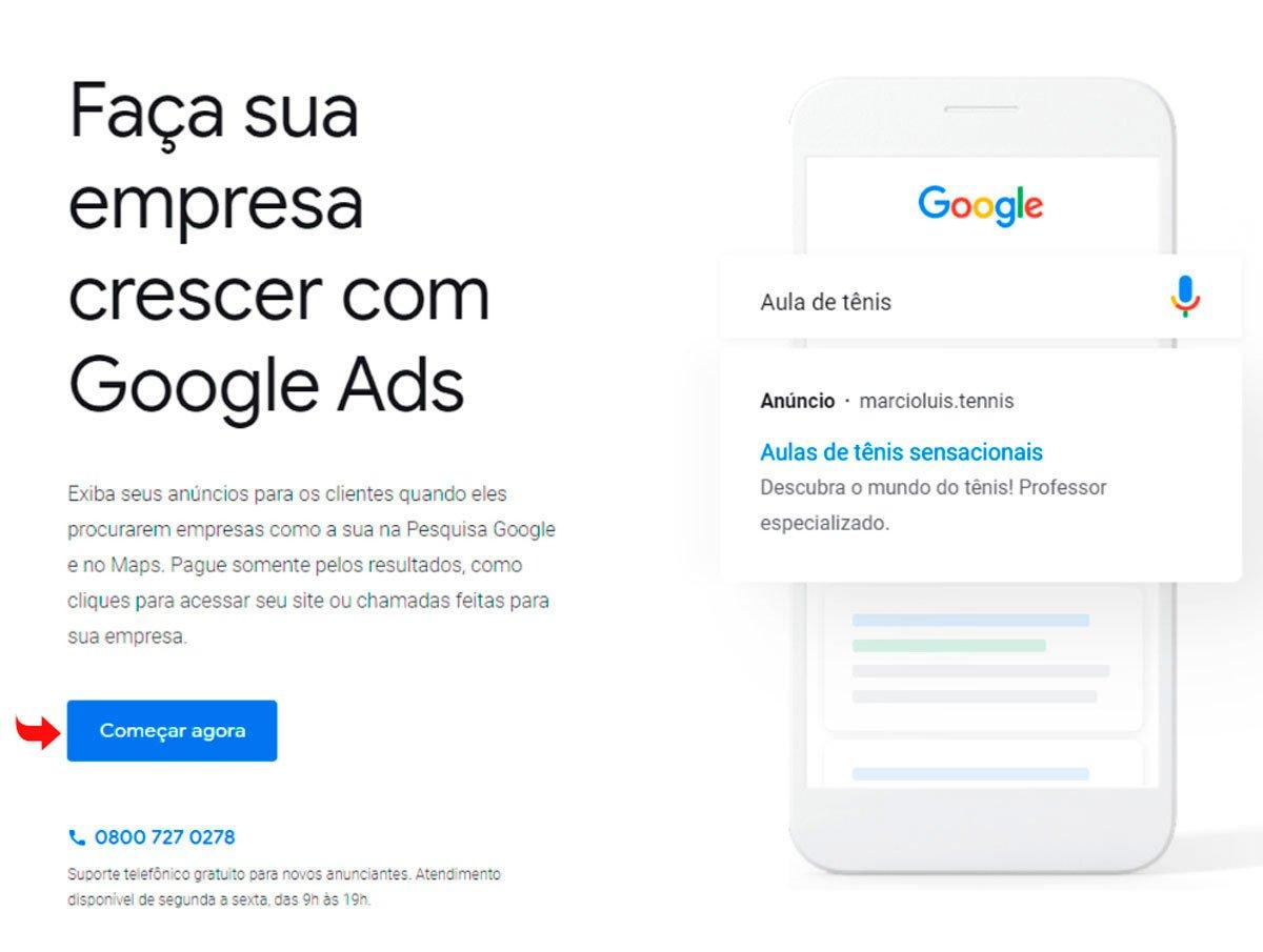 conta no google ads